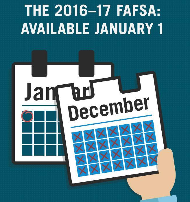 2016-2017 FAFSA Available January 1st, 2016